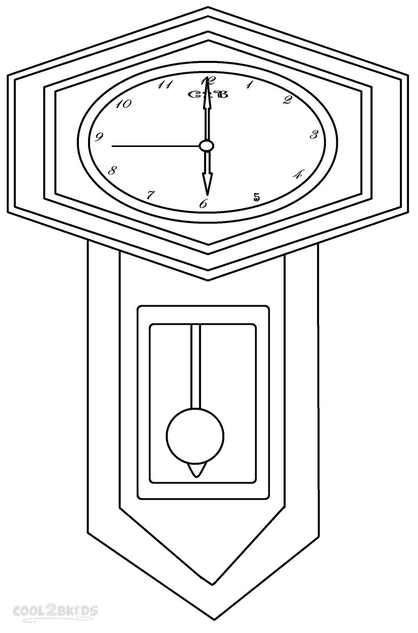coloring picture of clock printable clock coloring pages for kids cool2bkids clock picture of coloring