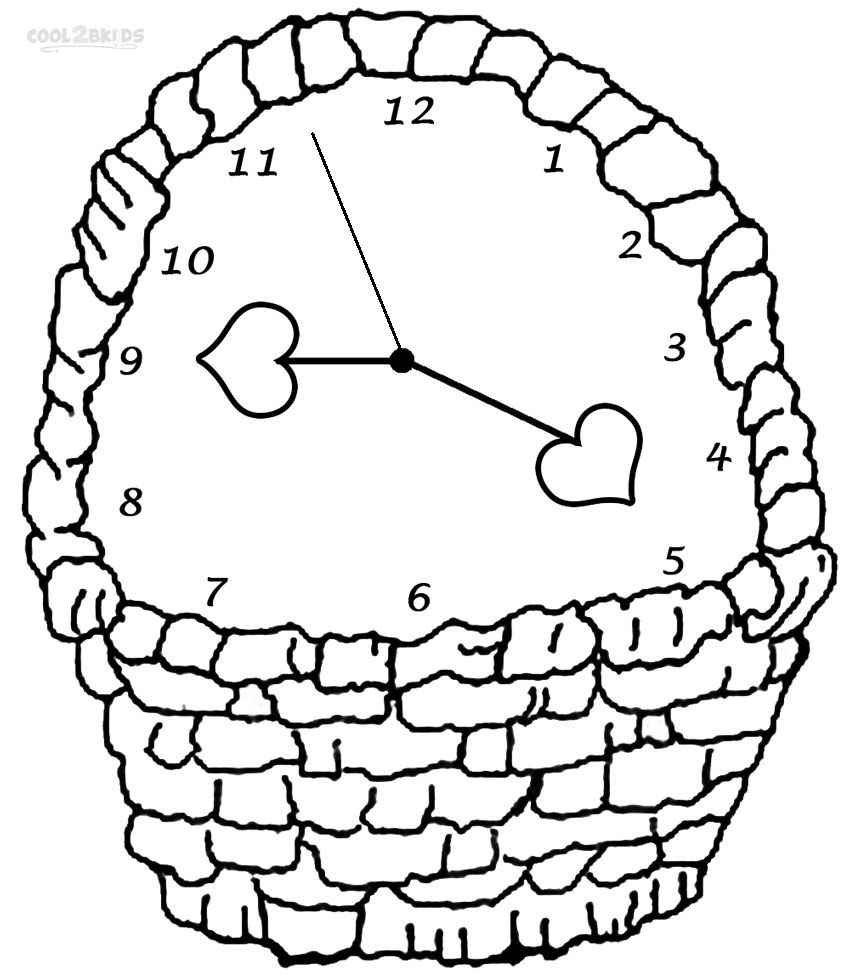 coloring picture of clock printable clock coloring pages for kids cool2bkids picture coloring of clock