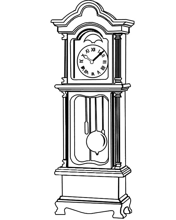 coloring picture of clock steampunk wall clock coloring page free coloring pages clock of picture coloring 1 1