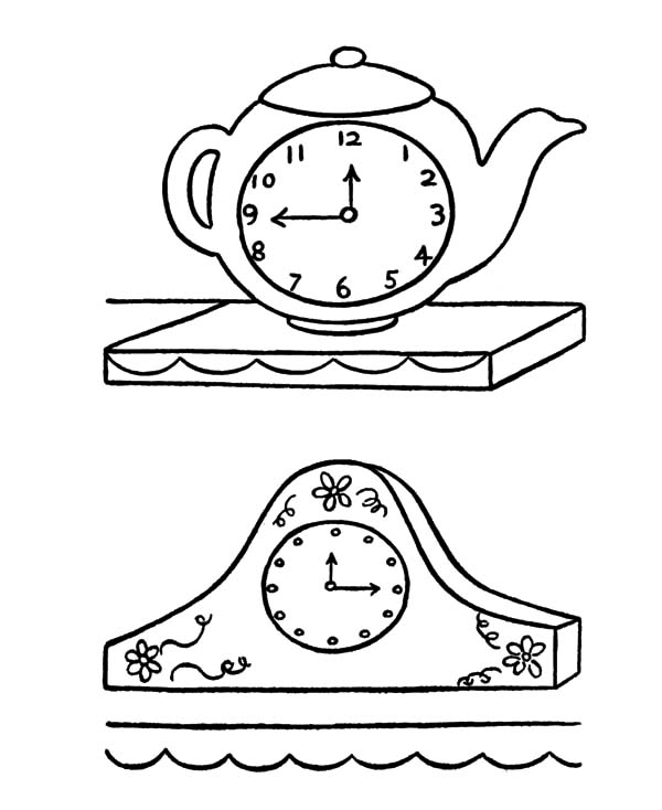 coloring picture of clock steampunk wall clock coloring page free coloring pages picture coloring of clock