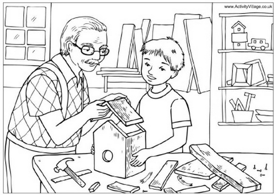 coloring picture of family 16 best images of worksheets about family members family coloring of picture