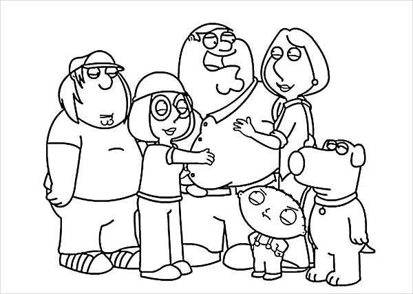 coloring picture of family 8 cartoon coloring pages jpg ai illustrator download picture coloring of family