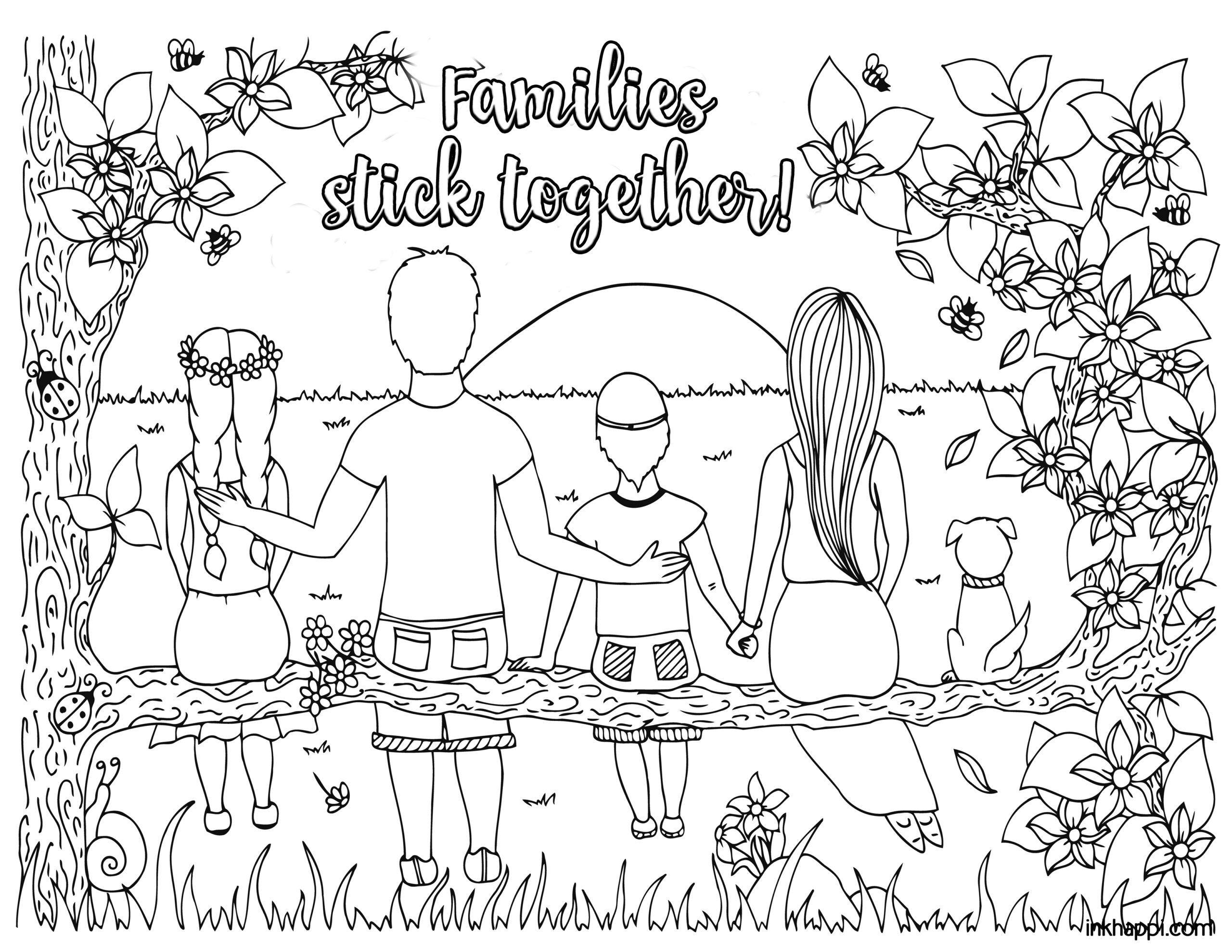 coloring picture of family family coloring pages download and print family coloring picture family of coloring