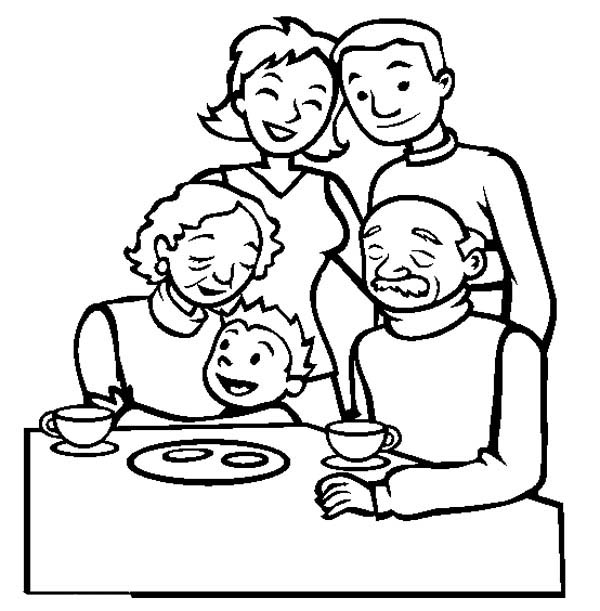 coloring picture of family family coloring pages getcoloringpagescom picture coloring of family