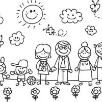 coloring picture of family family coloring sheet turtle diary family picture coloring of