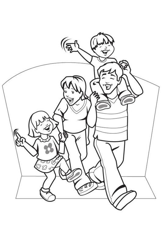 coloring picture of family family members drawing at getdrawings free download family of picture coloring
