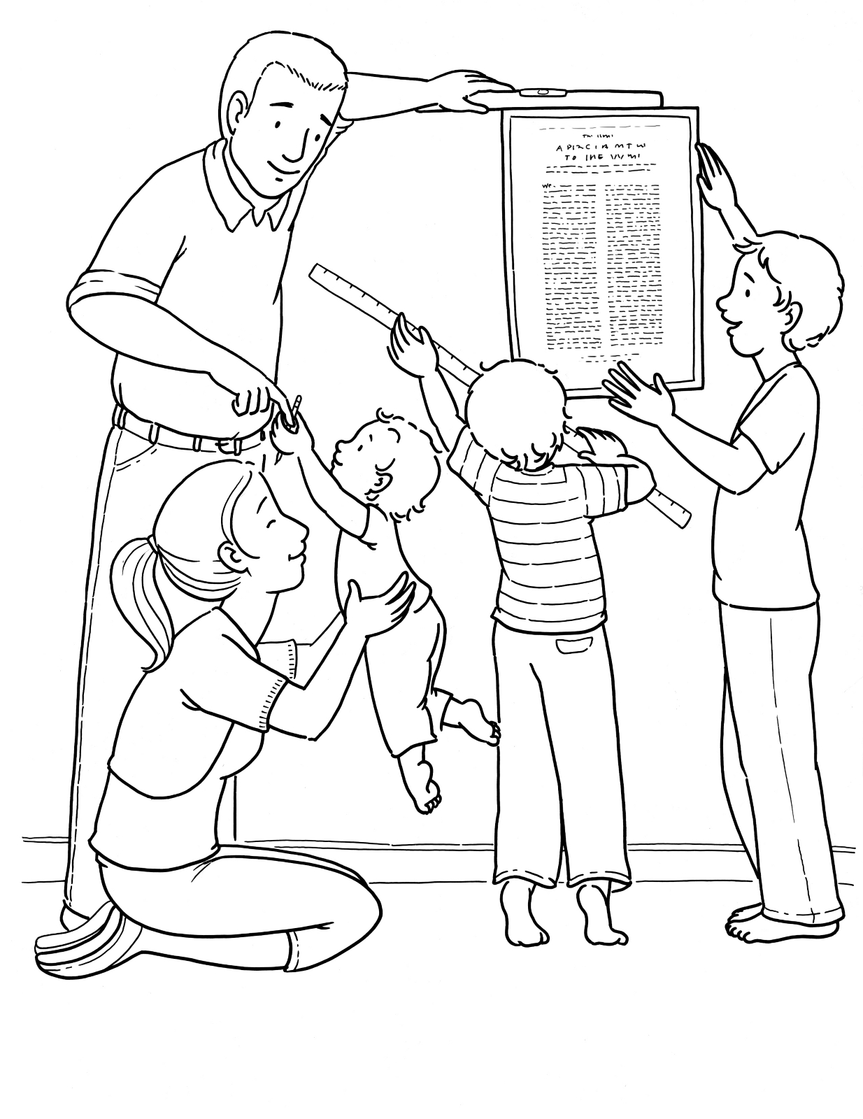 coloring picture of family family read book coloring page coloring sky of coloring family picture