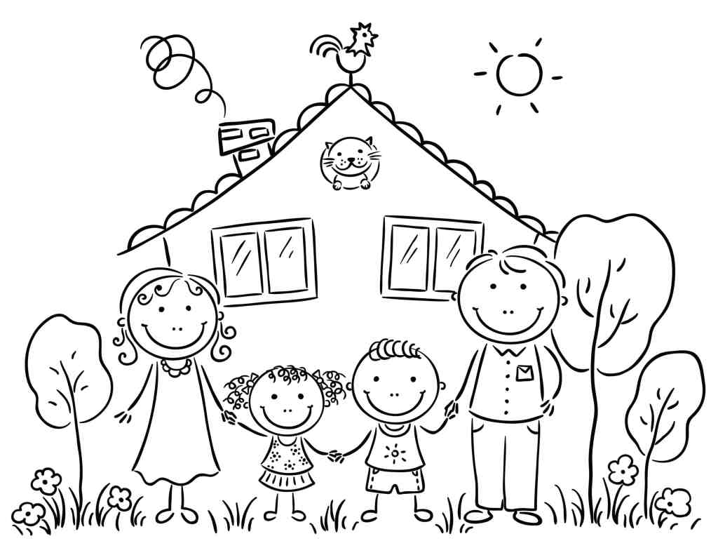 coloring picture of family free printable happy family coloring pages for kids coloring family picture of