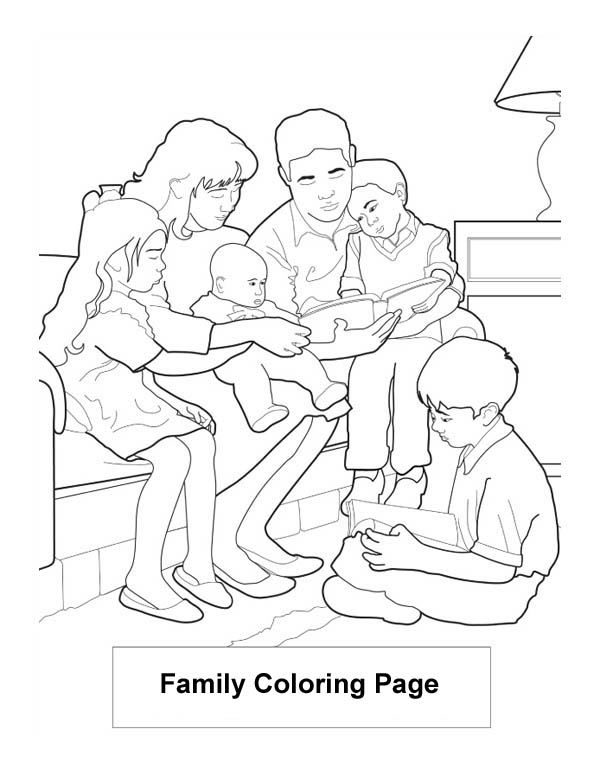 coloring picture of family friends are the family we choose colouring page of coloring picture family