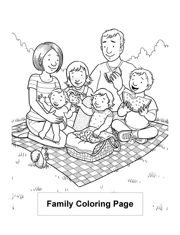 coloring picture of family happy family dinner coloring page coloring of picture family