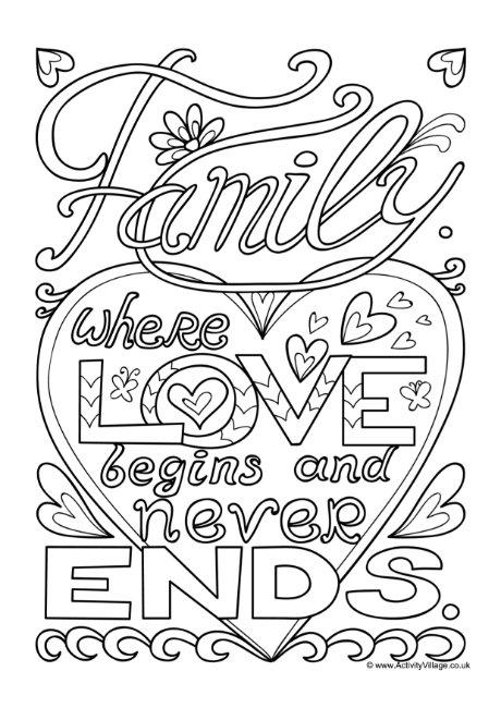 coloring picture of family my family coloring pages surfnetkids coloring family of picture