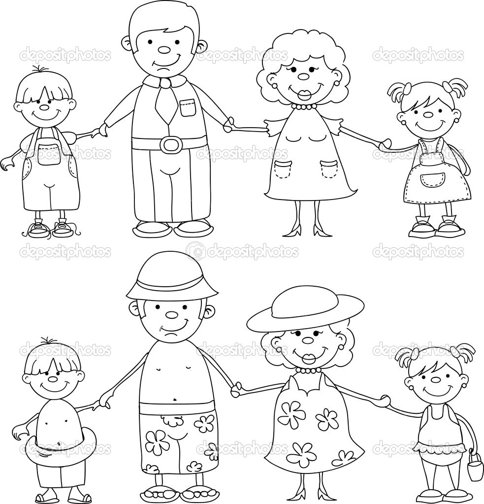 coloring picture of family printable family guy coloring pages for kids cool2bkids of picture coloring family