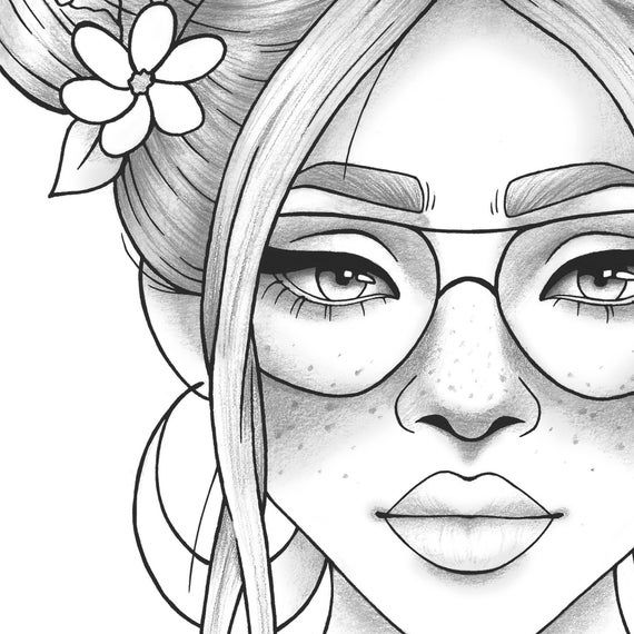 coloring picture of girl adult coloring page girl portrait and clothes colouring of girl coloring picture