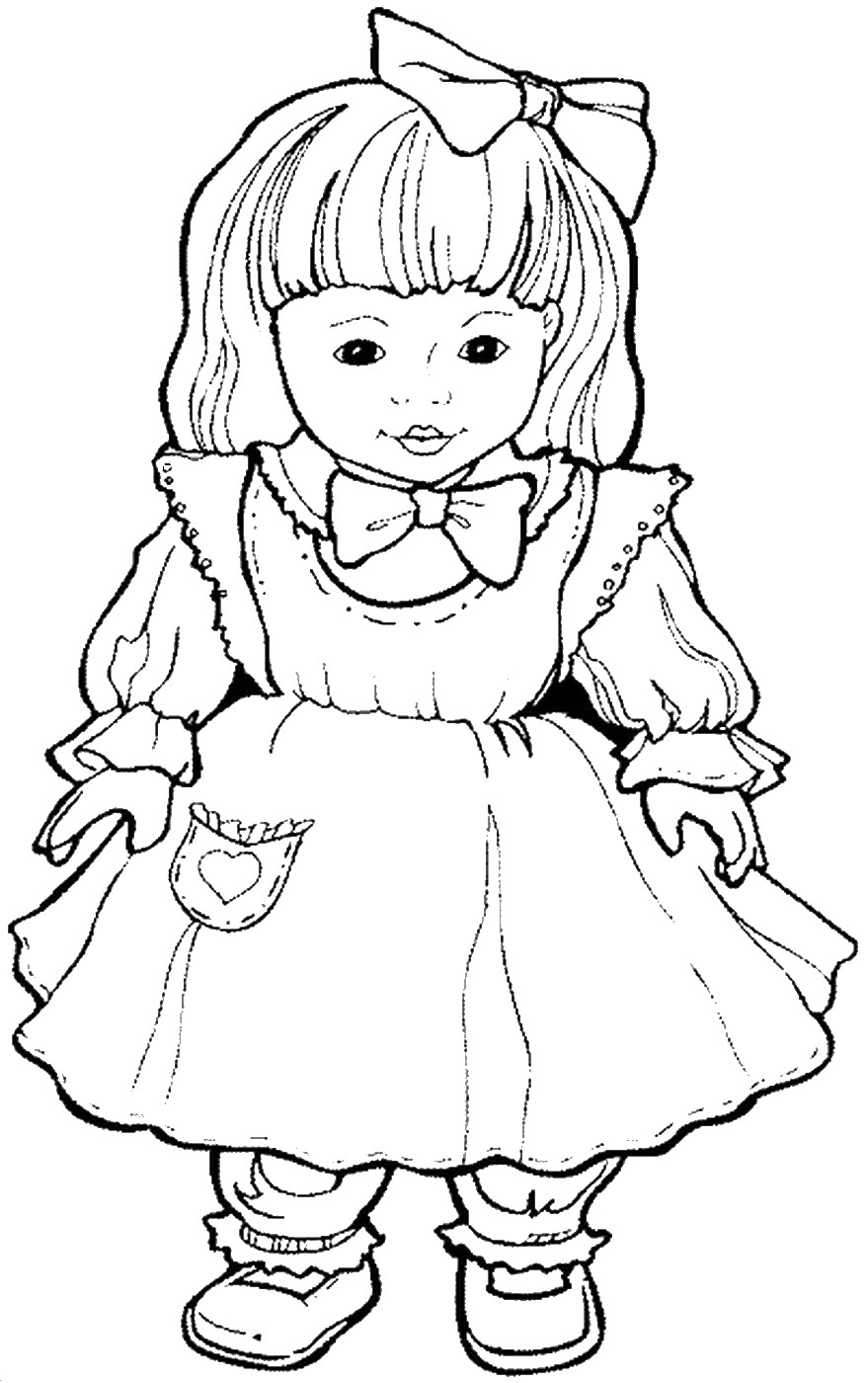 coloring picture of girl dolls coloring pages coloring girl of picture