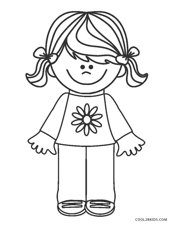 coloring picture of girl free printable girl scout coloring pages for kids of girl picture coloring