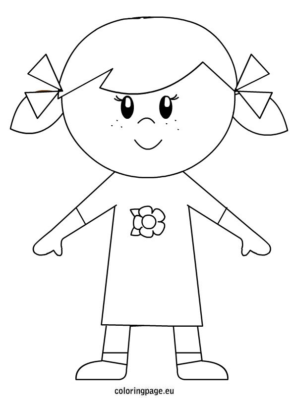 coloring picture of girl little girl coloring pages getcoloringpagescom coloring picture of girl