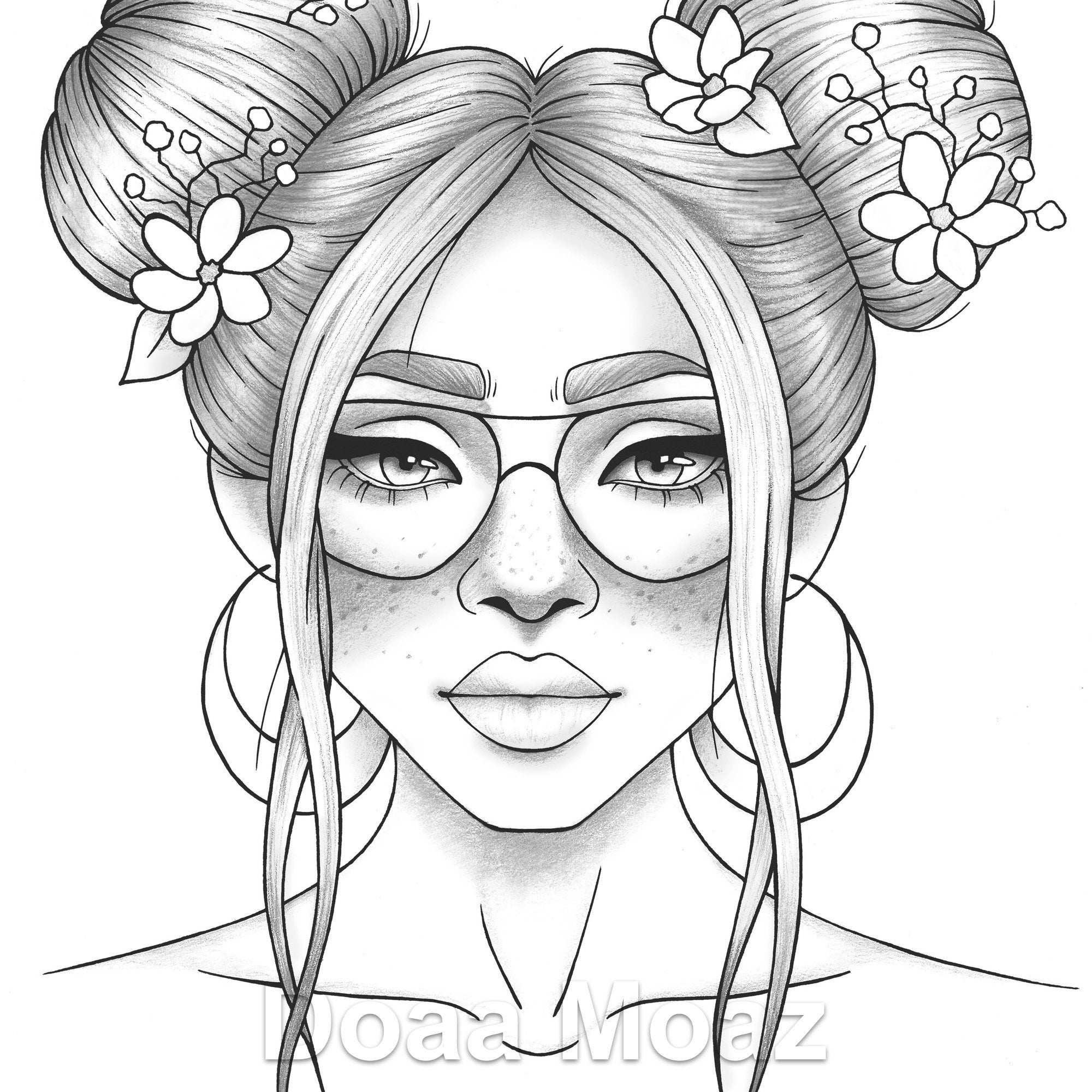 coloring picture of girl printable coloring page girl portrait and clothes coloring of picture girl