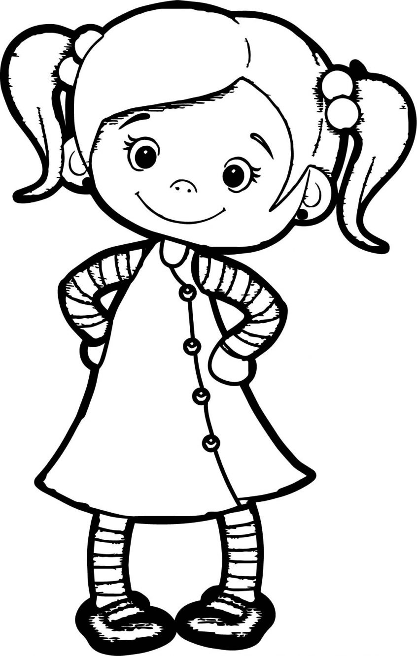 Coloring picture of girl