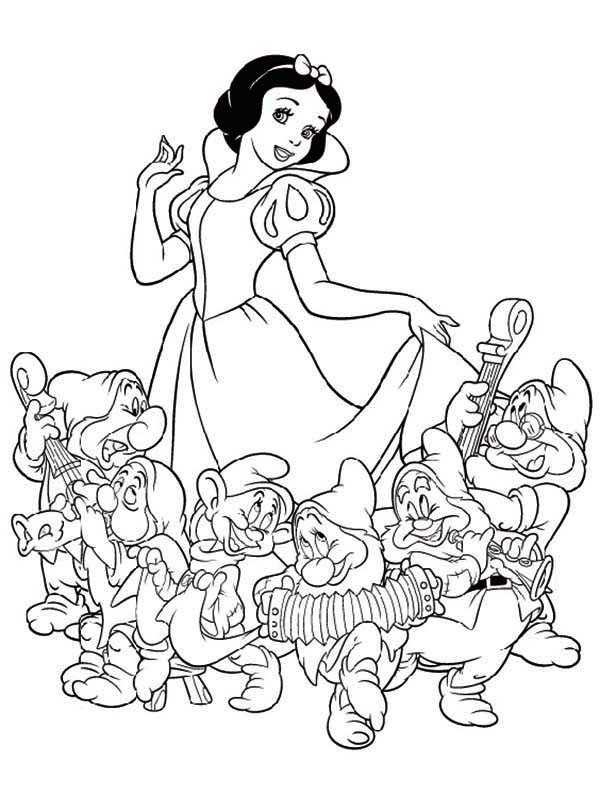 coloring picture of snow white snow white and the seven dwarfs coloring pages 2 of coloring picture snow white