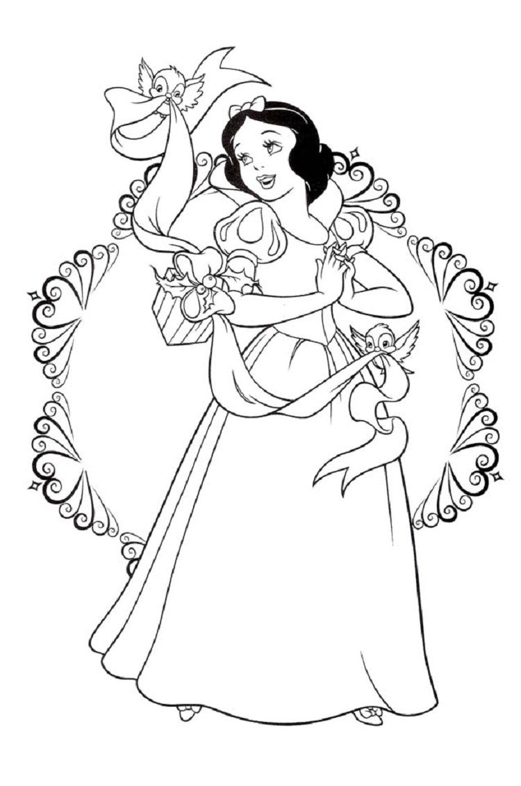 coloring picture of snow white snow white christmas coloring pages malebøger coloring of snow picture white