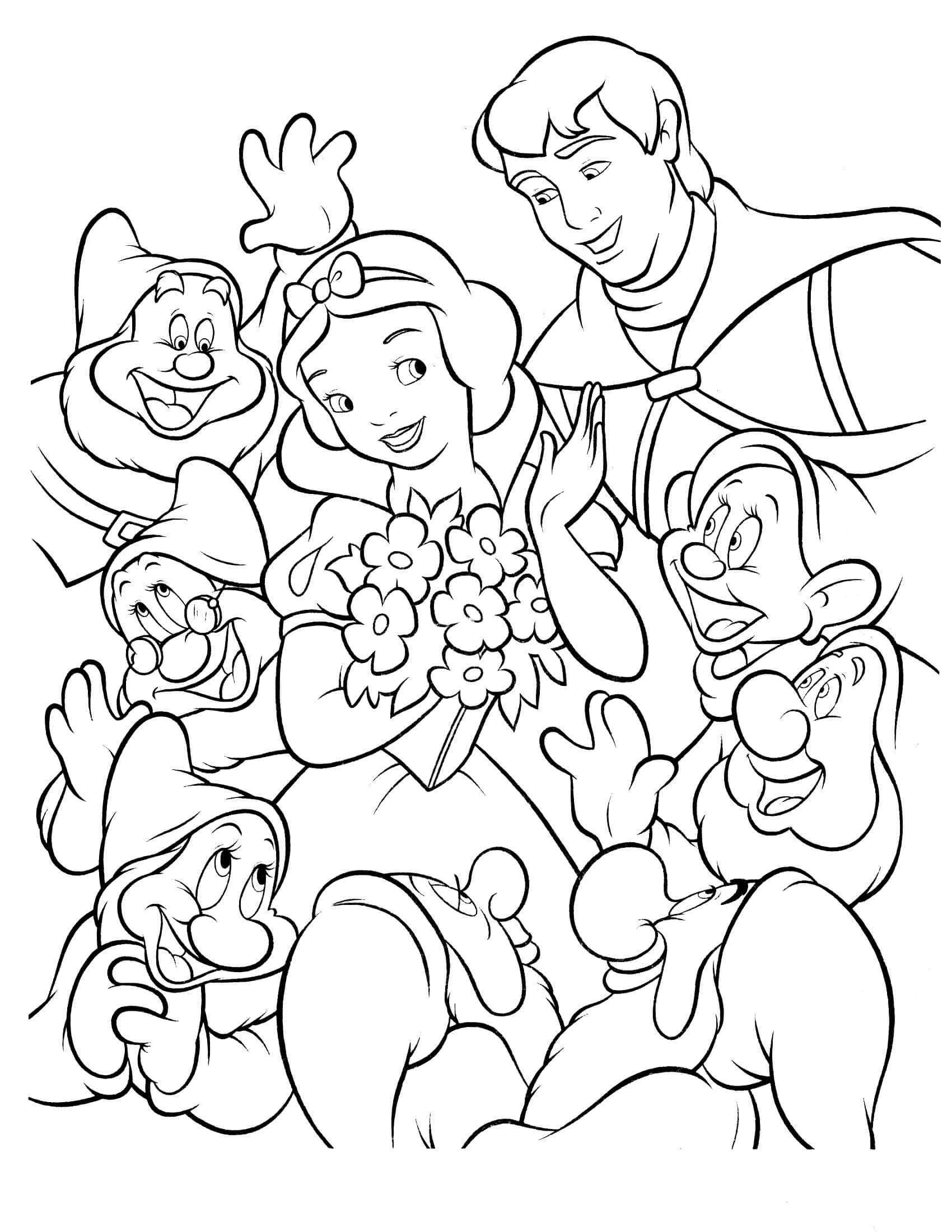 coloring picture of snow white snow white coloring pages best coloring pages for kids picture coloring snow of white