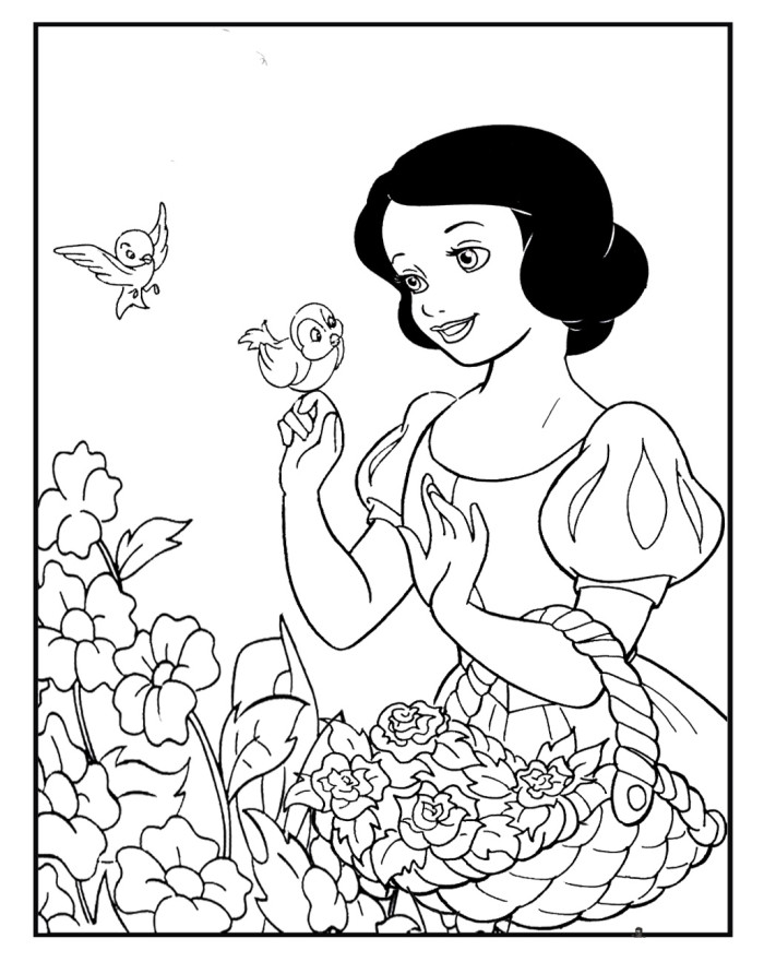 coloring picture of snow white snow white coloring pages best coloring pages for kids snow picture coloring white of