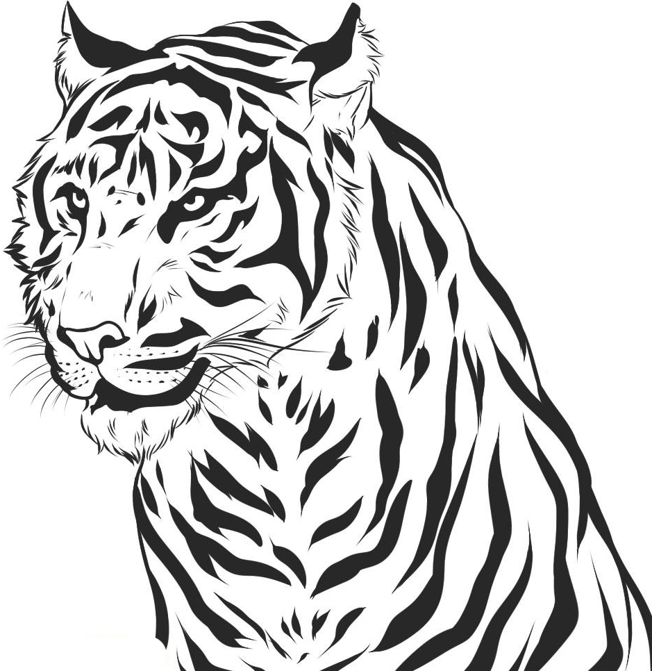 coloring picture of tiger cute tiger in cap coloring page free printable coloring coloring picture of tiger