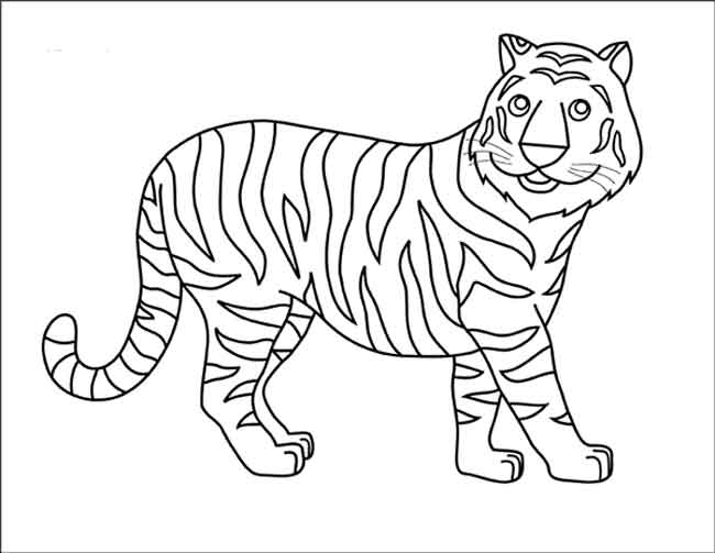 coloring picture of tiger free printable tiger coloring pages for kids tiger of picture coloring