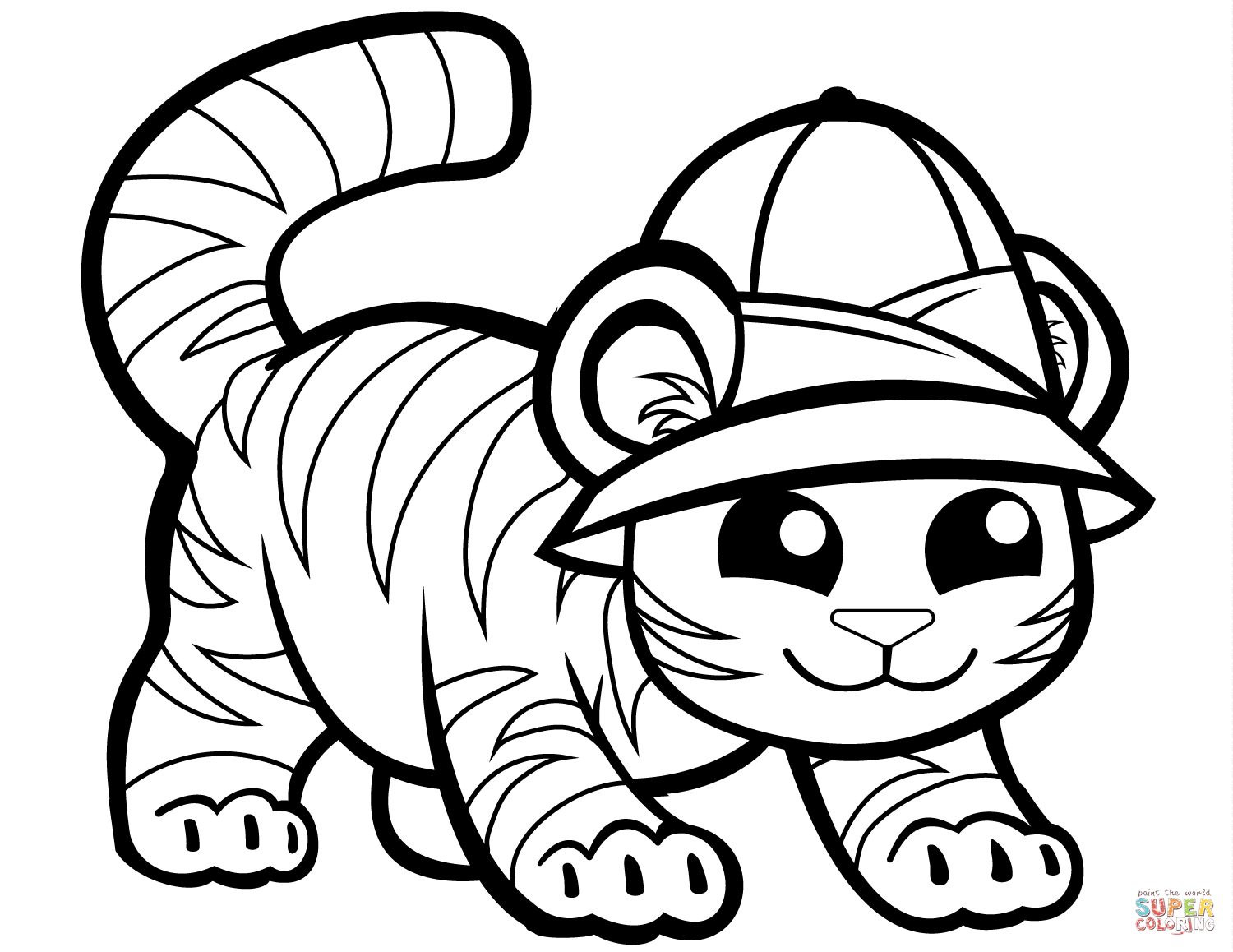coloring picture of tiger tiger jumps coloring page free printable coloring pages coloring picture tiger of