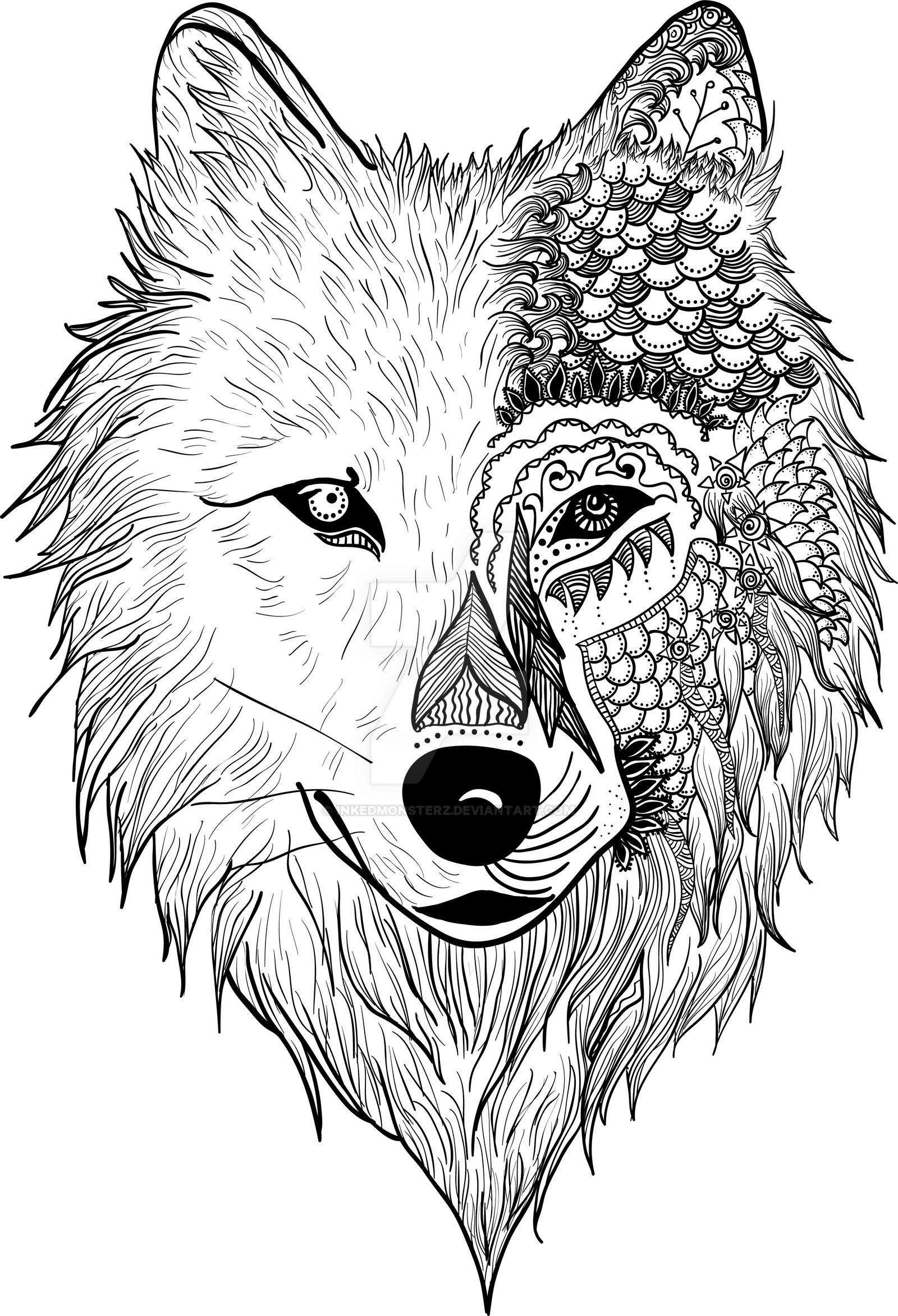 coloring picture of wolves free printable wolf coloring pages for kids animal place coloring wolves of picture