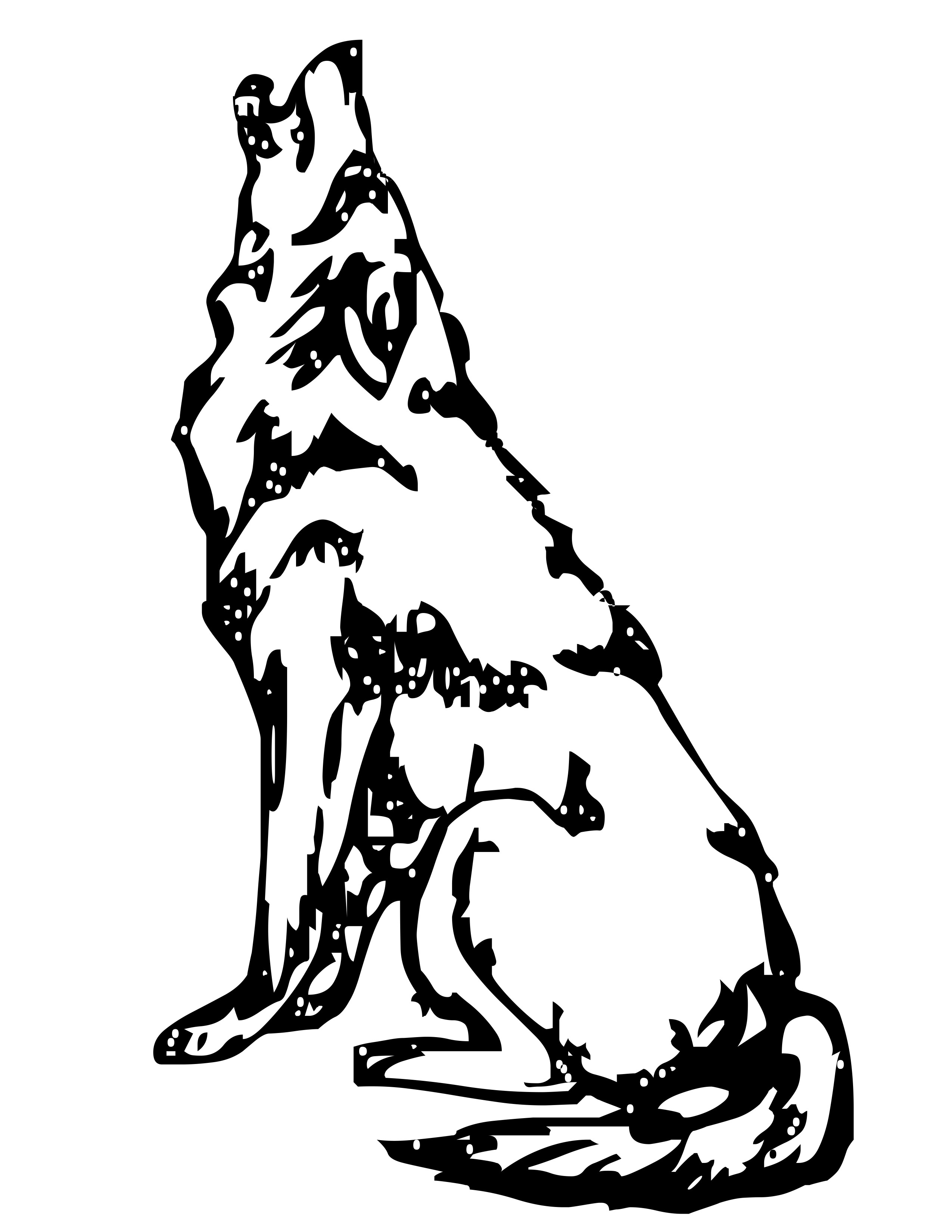 coloring picture of wolves wolf drawing for kids at getdrawings free download coloring of wolves picture