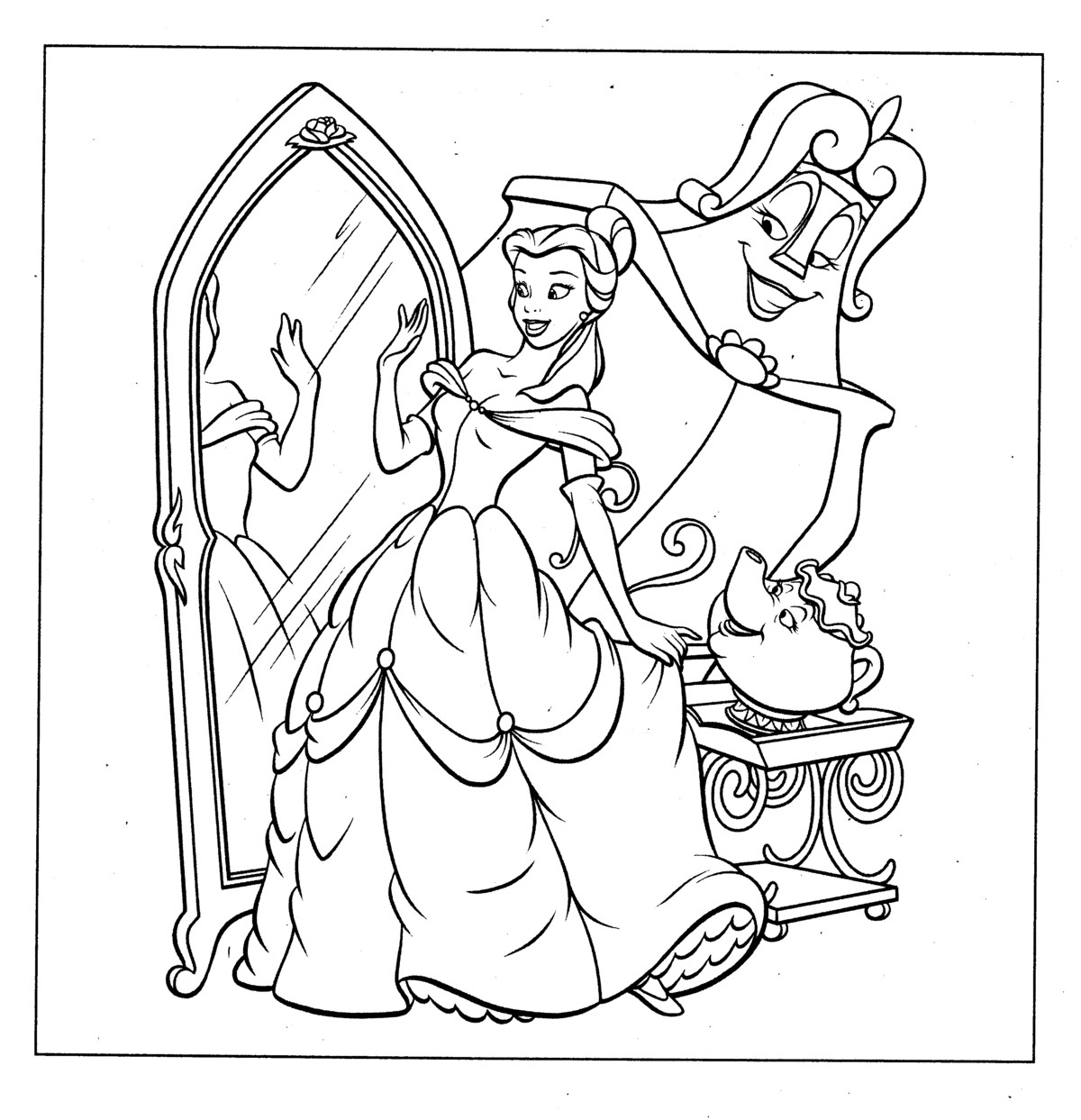 coloring picture princess 6 best images of disney printable disney princess princess coloring picture