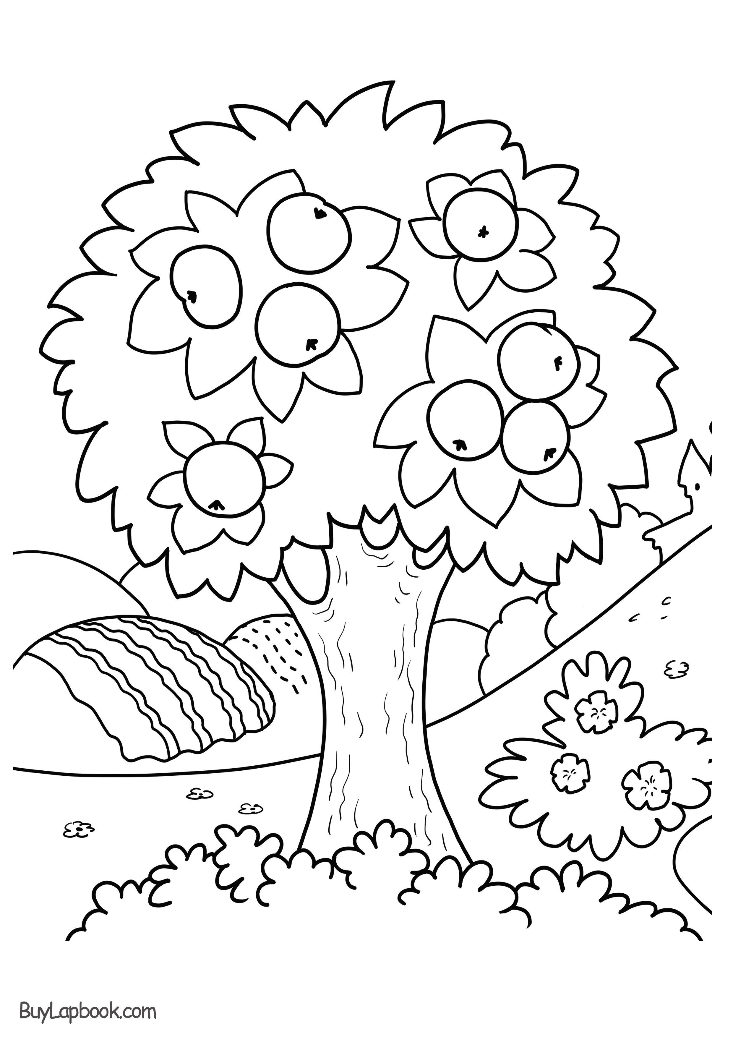 coloring picture tree free printable tree coloring pages for kids cool2bkids picture tree coloring 1 1