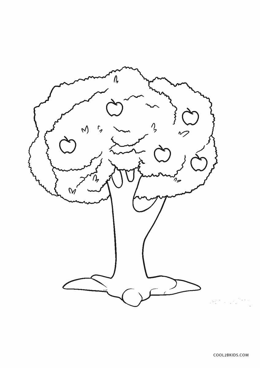 coloring picture tree fruit tree coloring page at getcoloringscom free picture tree coloring