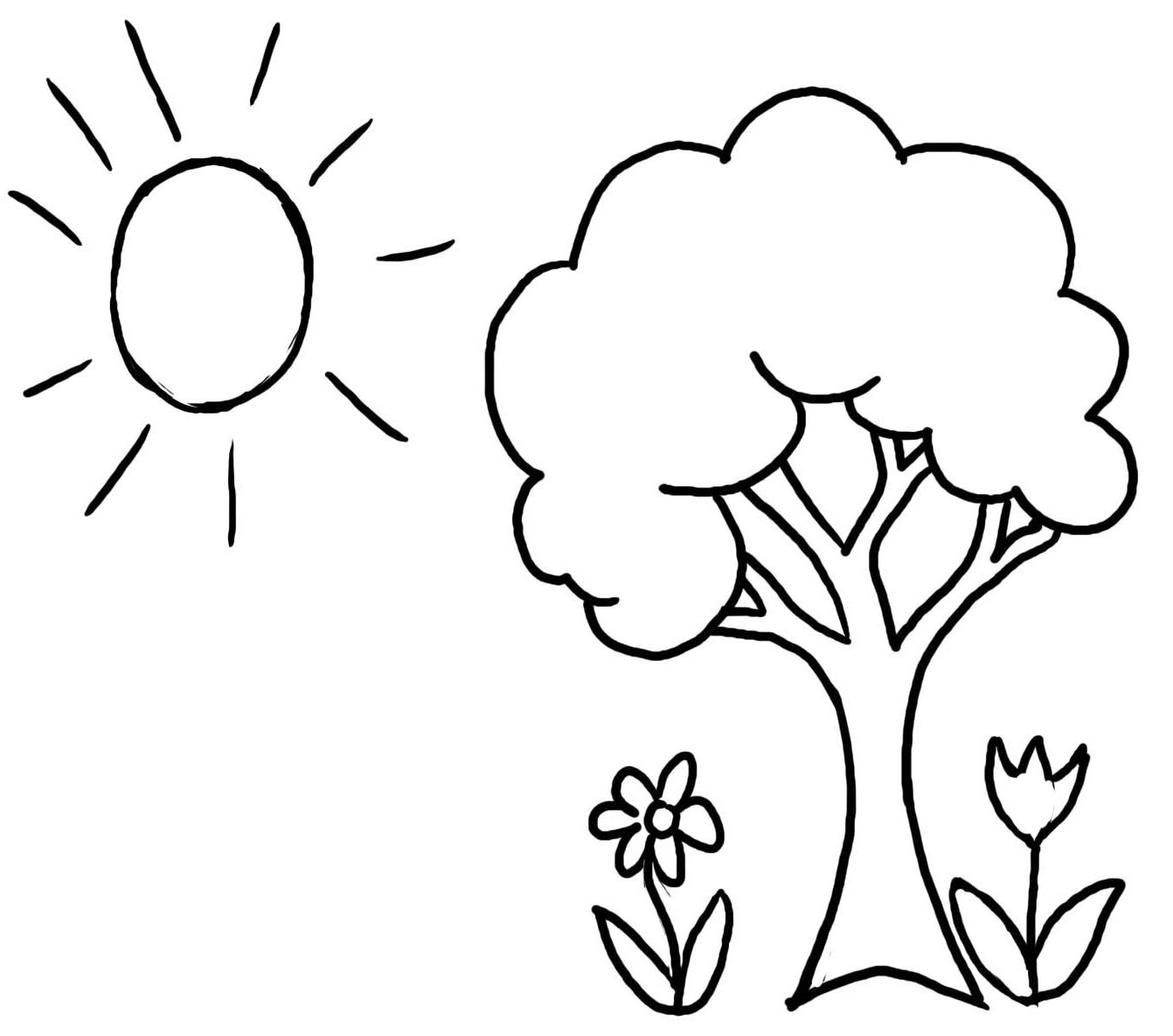 coloring picture tree tree coloring pages picture coloring tree