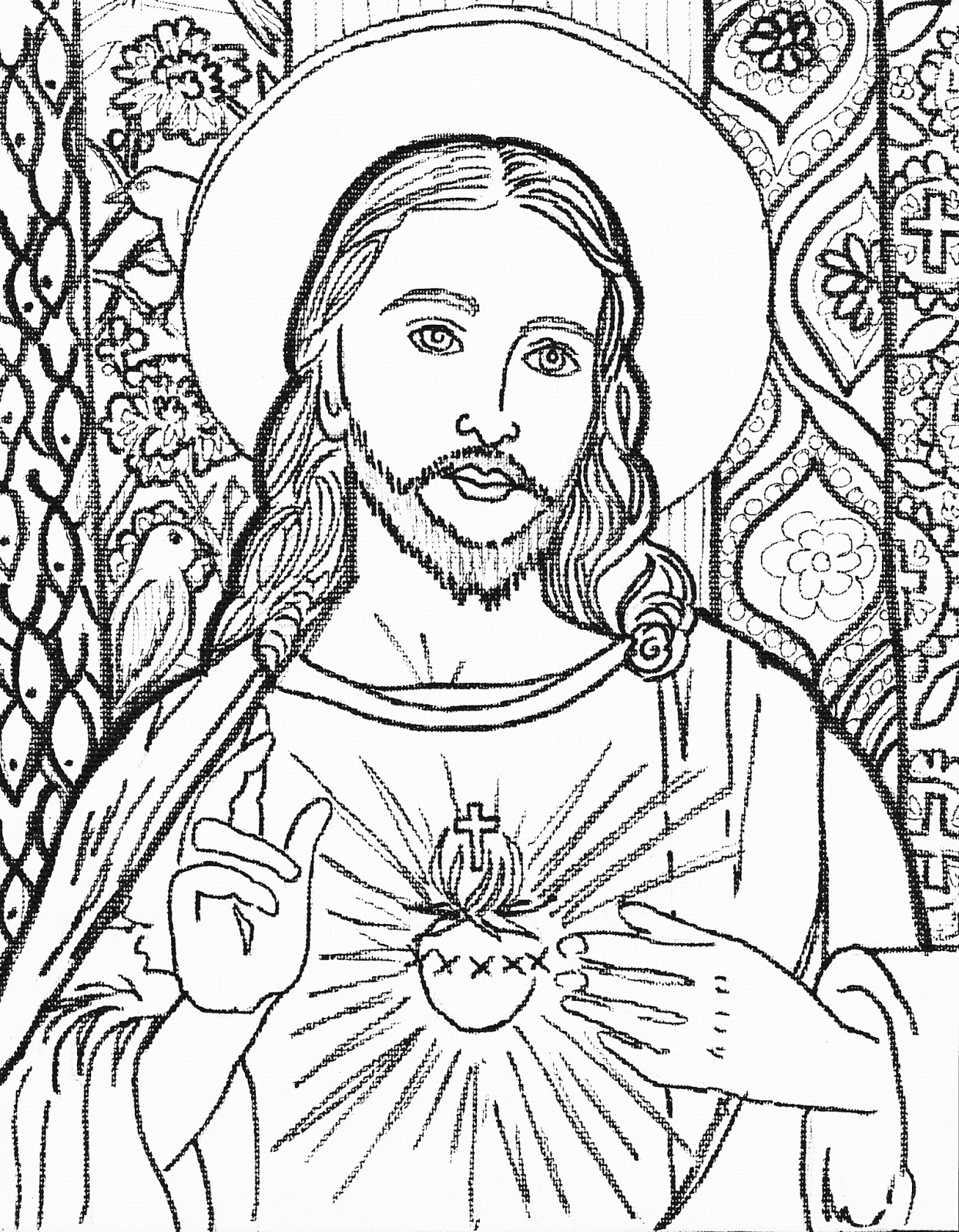 Coloring pictures jesus