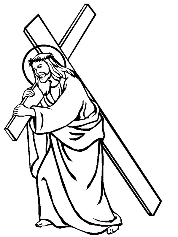 coloring pictures jesus jesus on the cross coloring pages printable at pictures jesus coloring