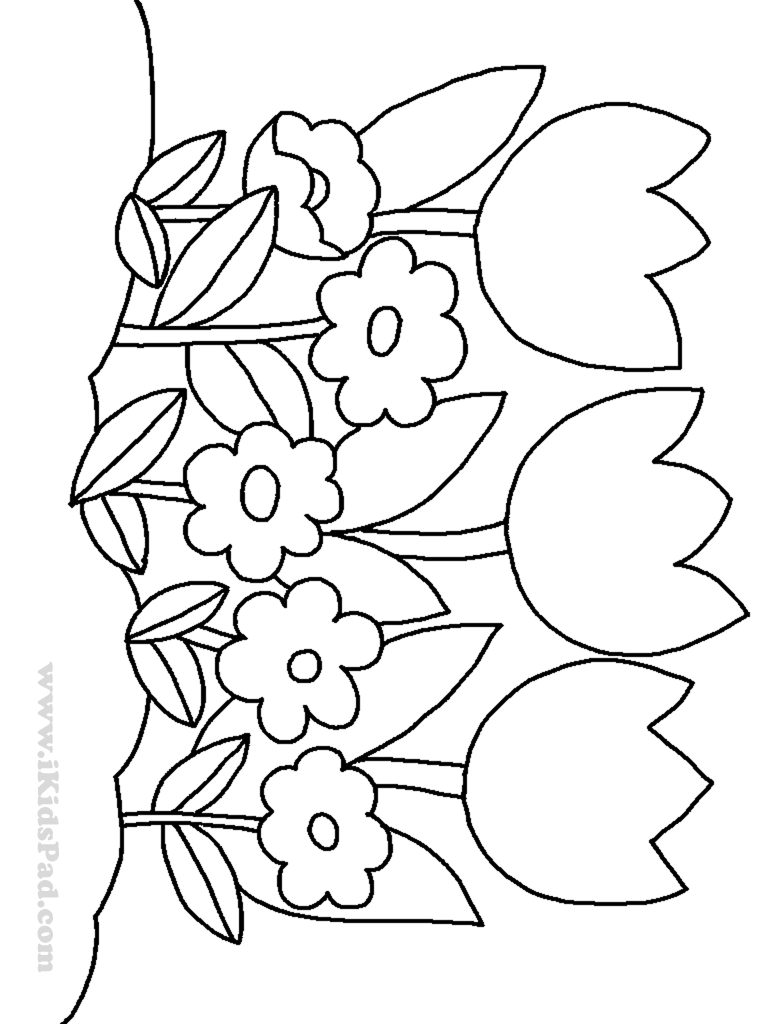 coloring pictures of a flower cute spring flower coloring page 1 free clip art flower pictures a coloring of