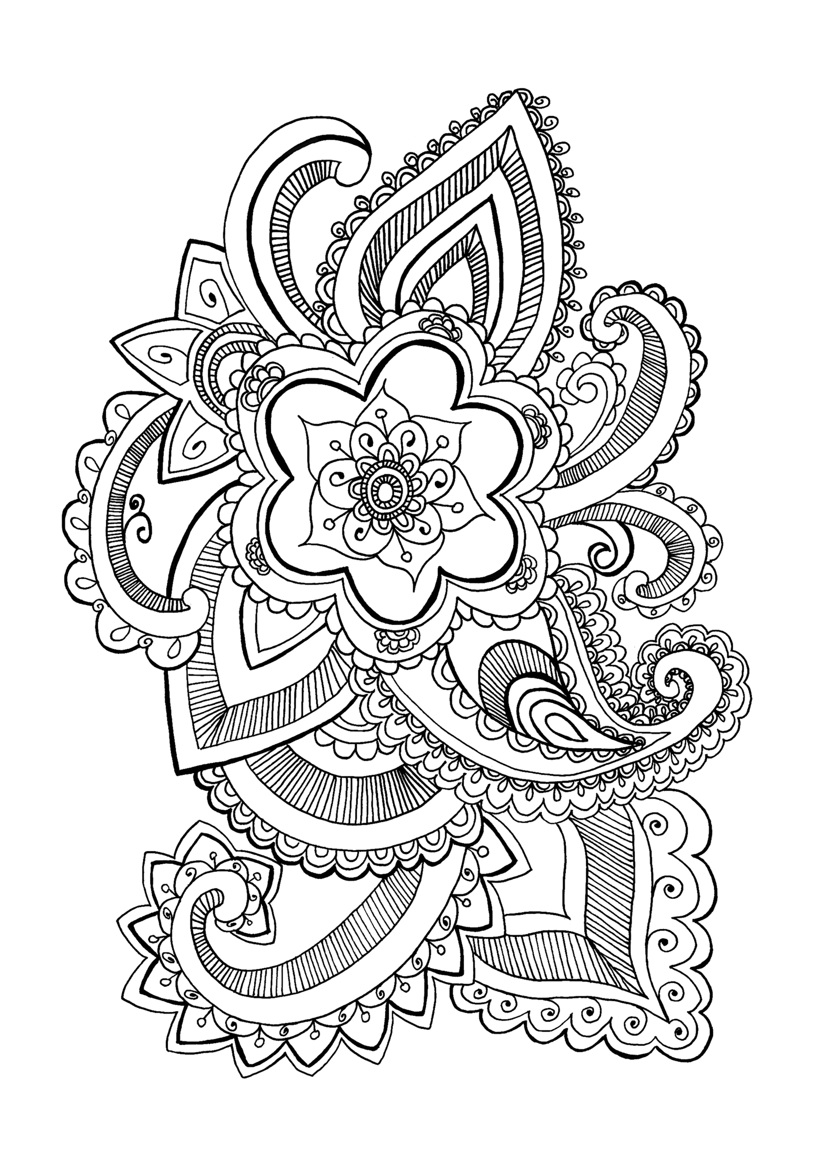 coloring pictures of a flower peony coloring page at getcoloringscom free printable a coloring flower of pictures