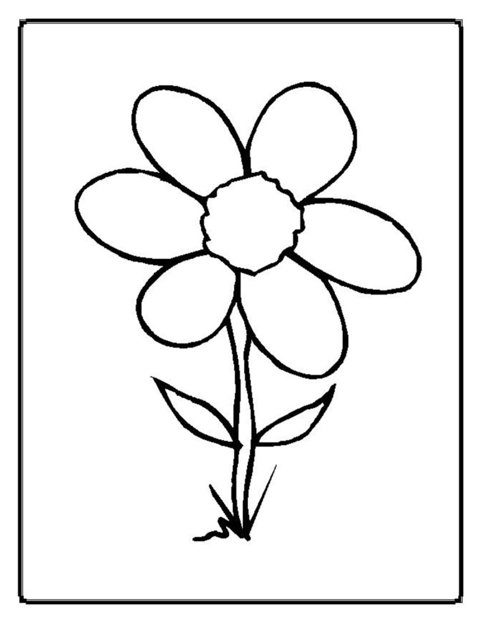 coloring pictures of a flower single flower coloring pages at getcoloringscom free flower of pictures a coloring