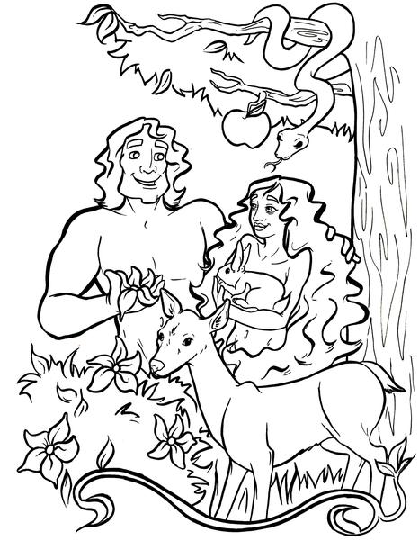 coloring pictures of adam and eve adam and eve coloring pages for kids coloring home and coloring eve adam pictures of