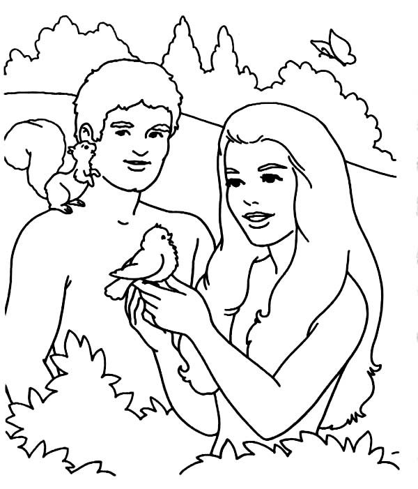 coloring pictures of adam and eve adam and eve tempted by the serpent coloring page free adam of pictures coloring and eve