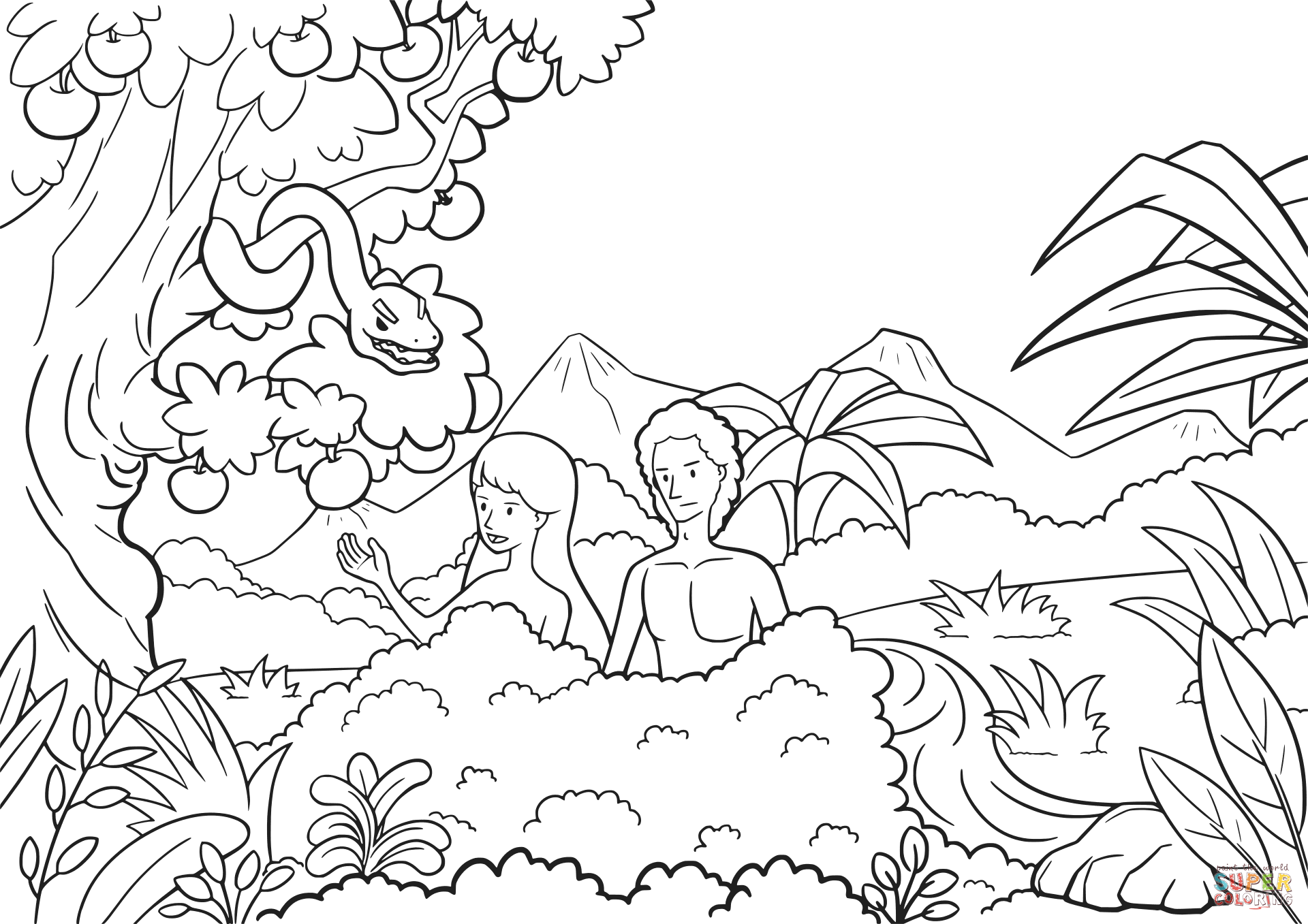 coloring pictures of adam and eve bible stories coloring page getcoloringpagescom pictures of and adam eve coloring