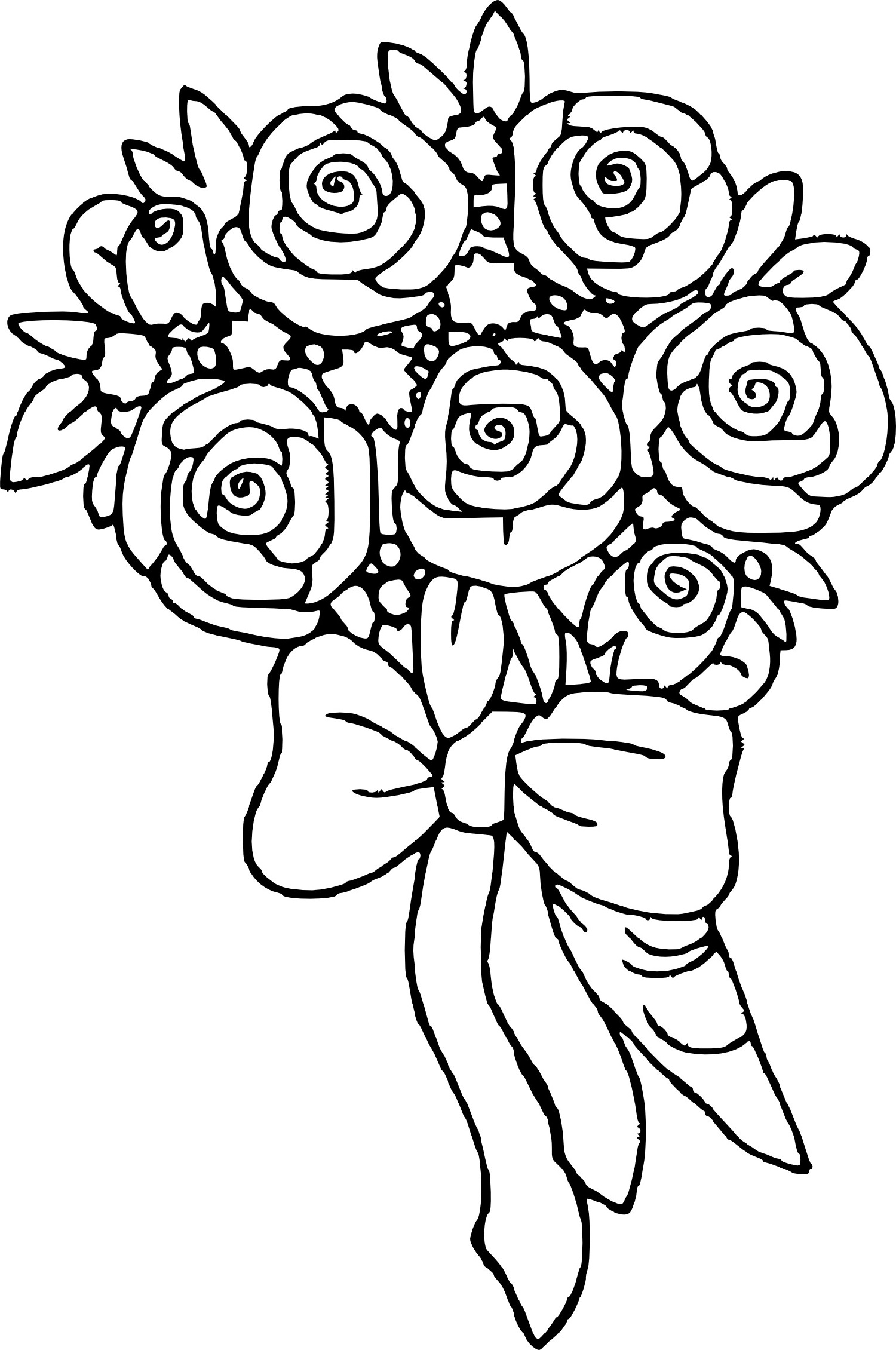 coloring pictures of bouquet of flowers adult coloring printable flower bouquet woo jr kids of pictures flowers bouquet coloring of