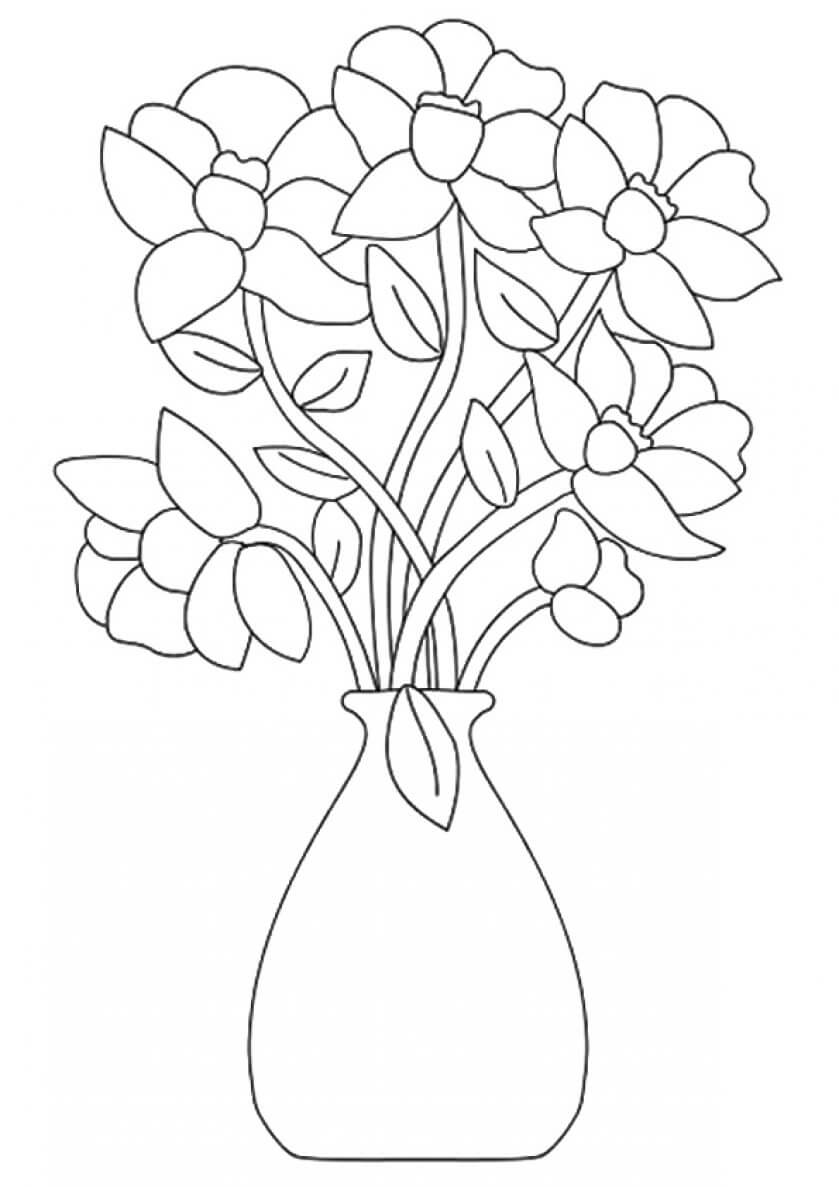 coloring pictures of bouquet of flowers beautiful printable flowers coloring pages coloring of of pictures flowers bouquet