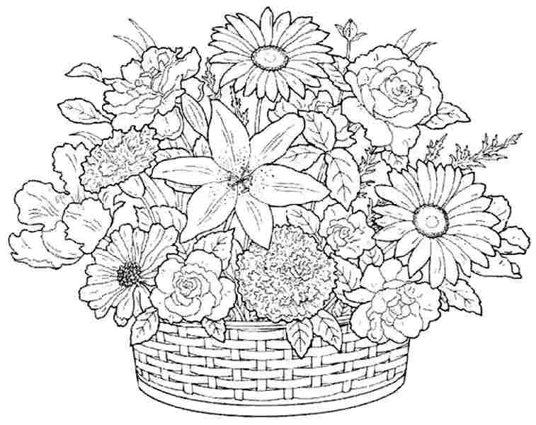 coloring pictures of bouquet of flowers bouquet coloring pages coloring flowers of of pictures bouquet
