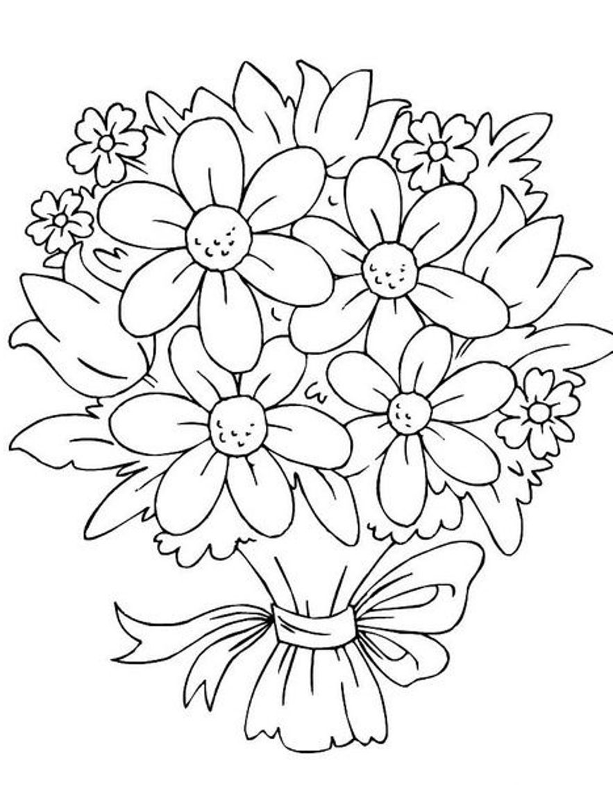coloring pictures of bouquet of flowers bouquet of flowers coloring pages flower coloring sheets flowers coloring of pictures of bouquet