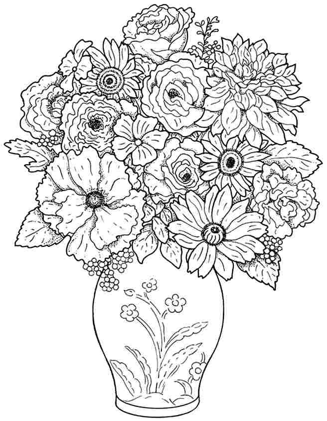 coloring pictures of bouquet of flowers bouquet of flowers coloring pages for childrens printable bouquet of flowers coloring of pictures
