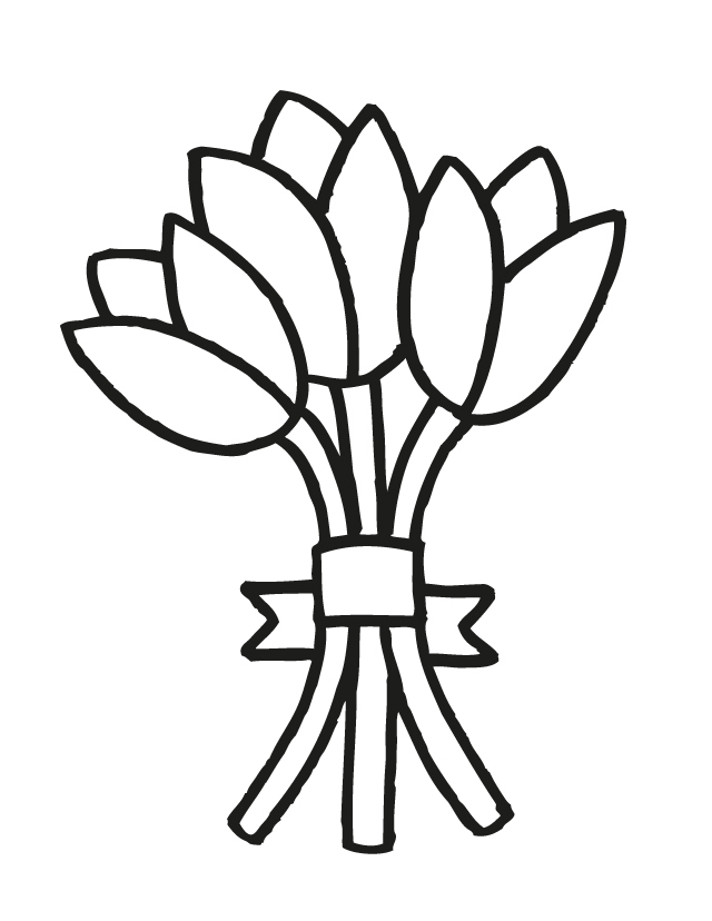 coloring pictures of bouquet of flowers cartoon bouquet of flowers clipartsco flowers of coloring of bouquet pictures