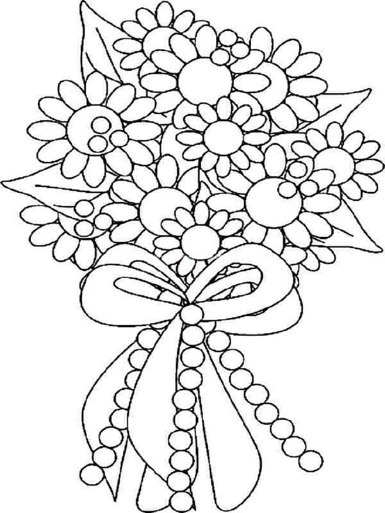 coloring pictures of bouquet of flowers coloring flowers pages wedding 2020 flower coloring coloring of bouquet flowers pictures of